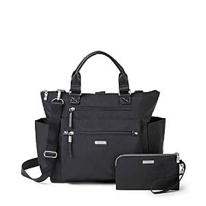 Baggallini 3-in-1 Convertible Backpack with Rfid Phone Wristlet  - Female - Black