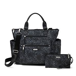 Baggallini 3-in-1 Convertible Backpack with Rfid Phone Wristlet  - Female - Onyx Floral