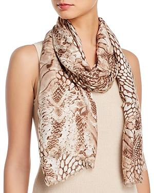 Fraas Patchwork Animal Print Scarf  - Female - Taupe