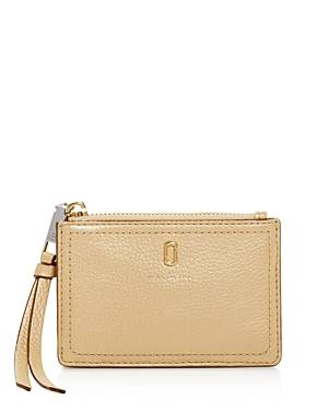 Marc Jacobs Softshot Leather Top Zip Wallet  - Female - Gold