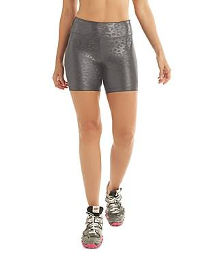 Koral Slalom High Rise Bike Shorts  - Female - Leopard - Size: Large
