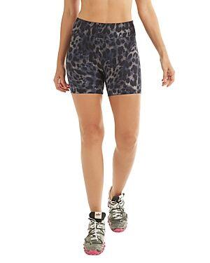 Koral Slalom High Rise Bike Shorts  - Female - Blue Cheetah - Size: Medium