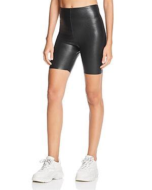 Commando Perfect Control Faux-Leather Bike Shorts  - Female - Black - Size: Small