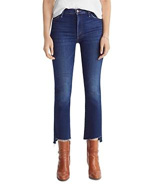 Mother The Insider Crop Step Fray Flared Jeans in Home Movies  - Female - Home Movies - Size: 34