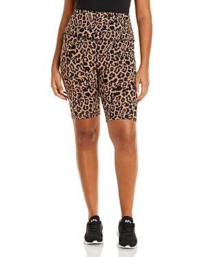 Lna Plus Leopard Print Bike Shorts  - Female - Leopard Print - Size: 3X
