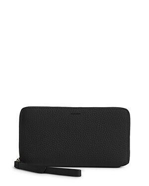 Allsaints Fetch Leather Phone Wristlet  - Female - Black