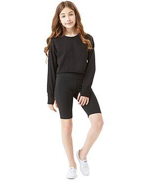 Habitual Kids Girls' Luella Bike Shorts Set - Big Kid  - Female - Black - Size: 7/8