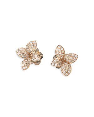 Pasquale Bruni 18K Rose Gold Petit Garden White & Champagne Flower Stud Earrings  - Female - Rose