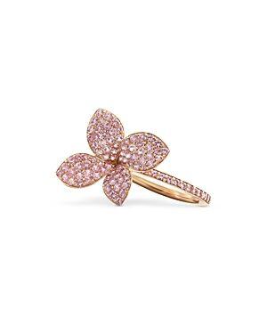 Pasquale Bruni 18K Rose Gold Petit Garden Pink Sapphire Flower Ring  - Female - Pink