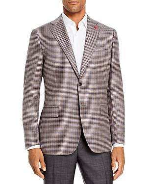 Cardinal of Canada Check Regular Fit Sport Coat  - Male - Tan - Size: 38R