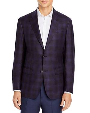 The Men's Store at Bloomingdale's Plaid Sport Coat - 100% Exclusive  - Male - Purple - Size: 48R