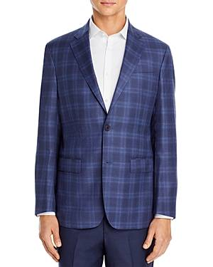 The Men's Store at Bloomingdale's Plaid Sport Coat - 100% Exclusive  - Male - Light Blue - Size: 40R