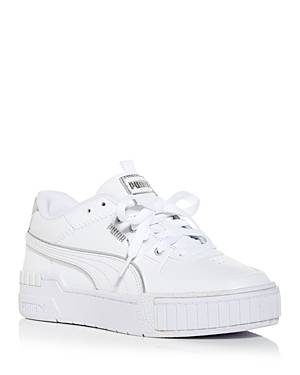 Puma Women's Cali Sport Low Top Sneakers  - Female - White/Gray - Size: 5.5