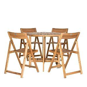 Safavieh Kerman Table 5-Piece Indoor/Outdoor Dining Set  - Natural