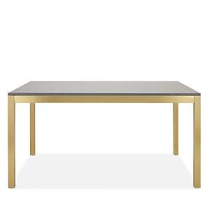 Mitchell Gold Bob Williams Essential Parsons 60 Dining Table  - Gray/Brass