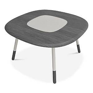 "Huppe Koval 54"" Dining Table With Laquered Glass Top  - Gray Oak"
