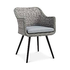 Modway Endeavor Outdoor Patio Wicker Rattan Dining Armchair  - Gray