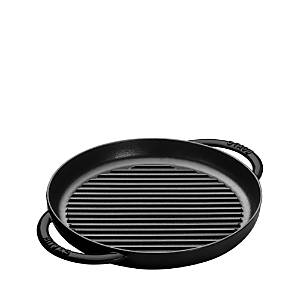 Staub 10 Round Double Handle Pure Grill  - Matte Black