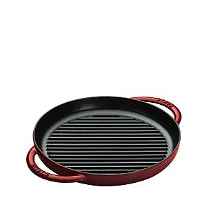 Staub 10 Round Double Handle Pure Grill  - Grenadine