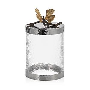 Michael Aram Butterfly Ginkgo Small Kitchen Canister  - Silver