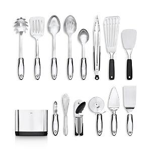 Oxo 15-Piece Kitchen Essentials Set  - Steel