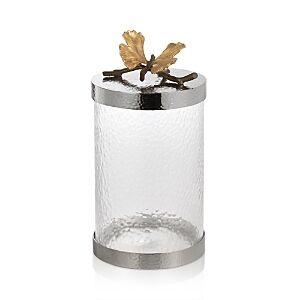 Michael Aram Butterfly Ginkgo Medium Kitchen Canister  - Silver