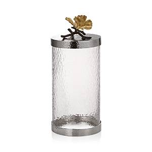 Michael Aram Butterfly Ginkgo Large Kitchen Canister  - Silver
