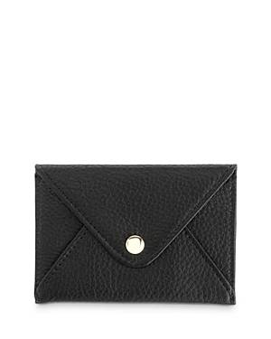 Royce New York Leather Envelope Card Case  - Female - Black