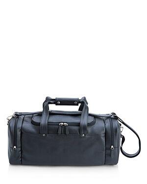 Royce New York Sports Travel Leather Duffel Bag  - Unisex - Black