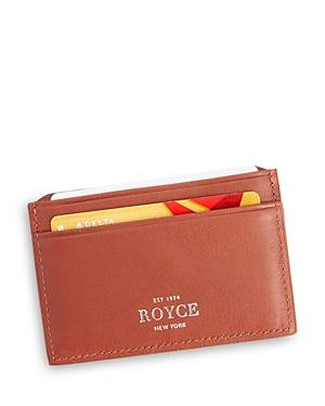 Royce New York Leather Rfid-Blocking Executive Slim Credit Card Case  - Unisex - Tan