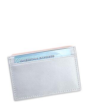 Royce New York Leather Rfid-Blocking Executive Slim Credit Card Case  - Unisex - Silver