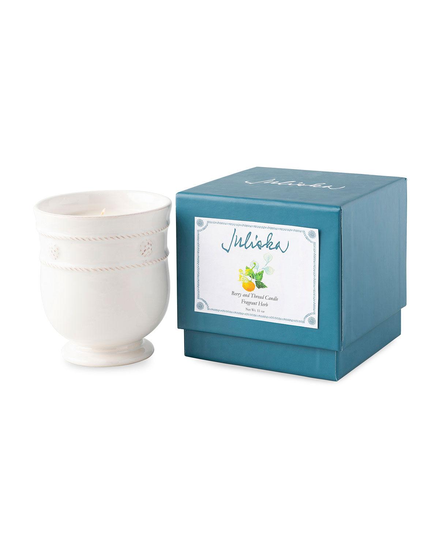 Juliska Berry and Thread Kitchen Whitewash Fragrant Herb Candle