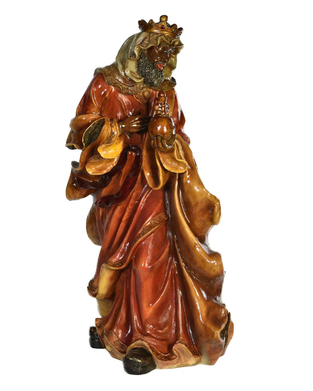 """Live Form Small King Balthazar Outdoor Christmas Decoration, 40.5"""""""