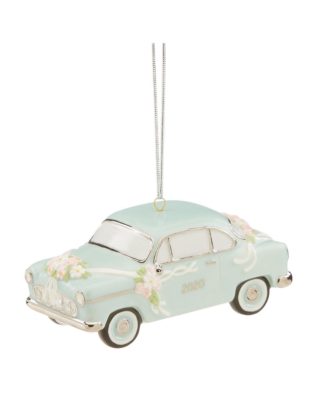 Lenox 2020 Just Married Vintage Car Ornament