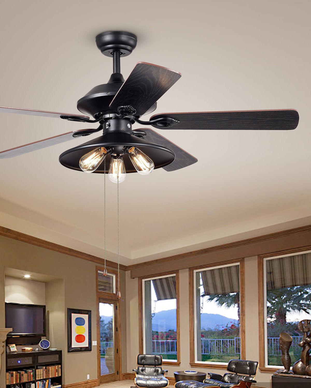 Home Accessories Edison Chandelier Ceiling Fan