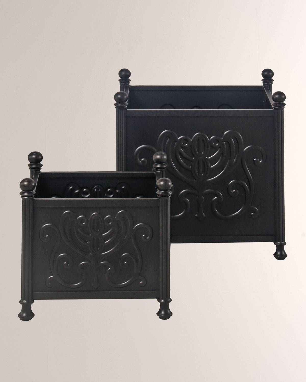 """Hanamint Tuscany Outdoor 2-Pack Planter Boxes, 18"""" & 24"""""""
