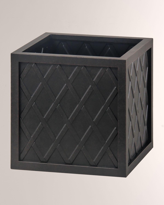 """Hanamint Lattice Outdoor 18"""" Small Square Planter Box"""