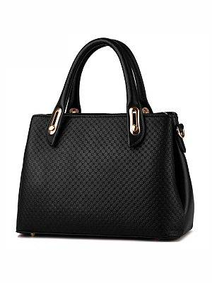 Berrylook Cross Embossed Big Capacity Shoulder Bag clothes shopping near me, stores and shops, embossed Shoulder Bags,