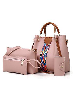 Berrylook Four Pieces Plain Shoulder Bags For Women online, clothes shopping near me, Plain Shoulder Bags,