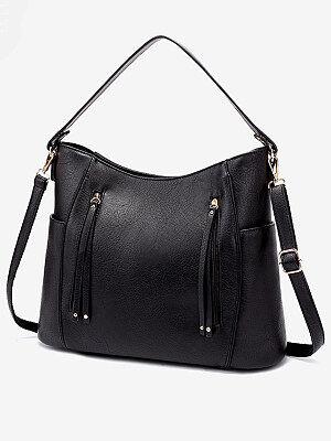 Berrylook Tote Shoulder Bag clothing stores, sale, Solid Shoulder Bags,