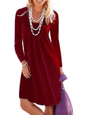 Berrylook Round Neck Plain Shift Dress clothes shopping near me, shoping, tunic dress, semi formal dresses
