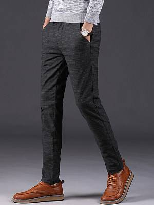 Berrylook Striped Pocket Slim-Leg Men's Casual Pants clothes shopping near me, online shop, stripe Men's Casual Pants,
