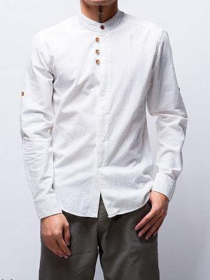 Berrylook Band Collar Plain Men Shirt stores and shops, shoppers stop,