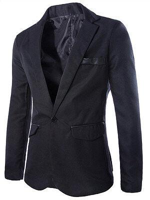 Berrylook Men Notch Lapel Single Button Blazer online sale, clothes shopping near me,