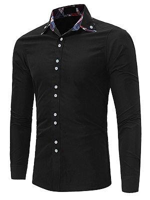 Berrylook Turn Down Collar Plaid Men Shirts online, clothes shopping near me,