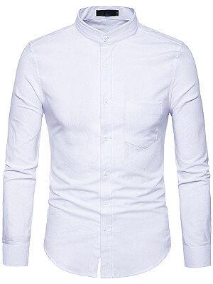 Berrylook Office Patch Pocket Plain Men Shirts clothes shopping near me, stores and shops, Plain Men Shirts,