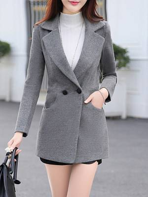 Berrylook Notch Lapel Single Button Belt Loops Plain Coat shoping, clothes shopping near me, womens fall jacket, black jacket womens