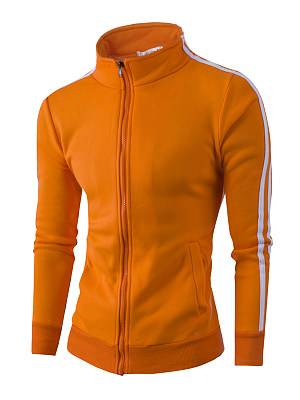 Berrylook Band Collar Pocket Striped Men Coat clothes shopping near me, online stores, Stripes Men Coats,