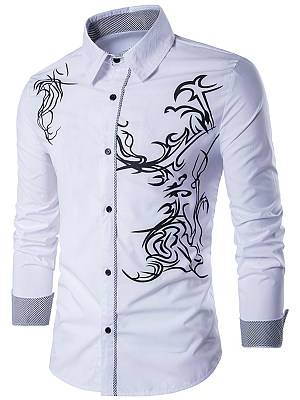 Berrylook Distinctive Printed Men Shirts clothes shopping near me, shoppers stop, Print Men Shirts,