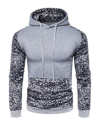 Berrylook Leopard Kangaroo Pocket Men Hoodie online stores, clothes shopping near me, Leopard Men Hoodies,